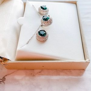 Swarovski Crystal Necklace & Earring Set green